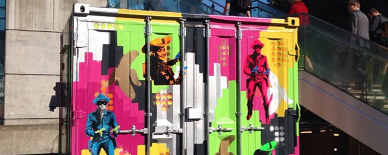 Beany Green shipping container, Southbank, 2015