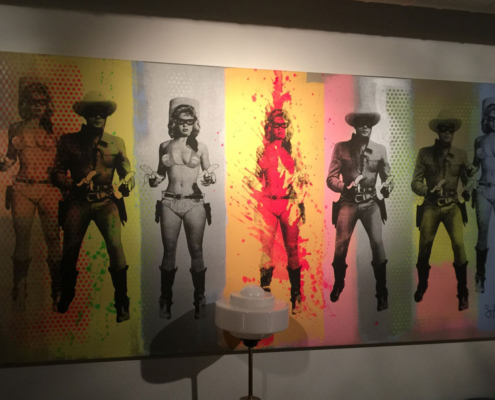 Candy Barr Lone Ranger canvas at Scarlette Green