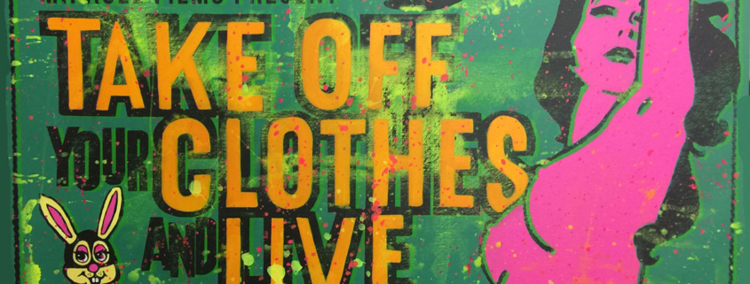 Take Tour Clothes Off and Live canvas